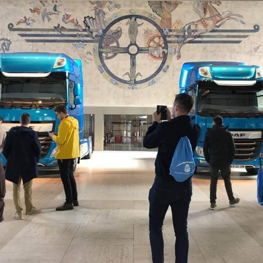 Izložbeni primjeri novog modela kamiona tvrtke DAF / Foto: Božo Cicvarić